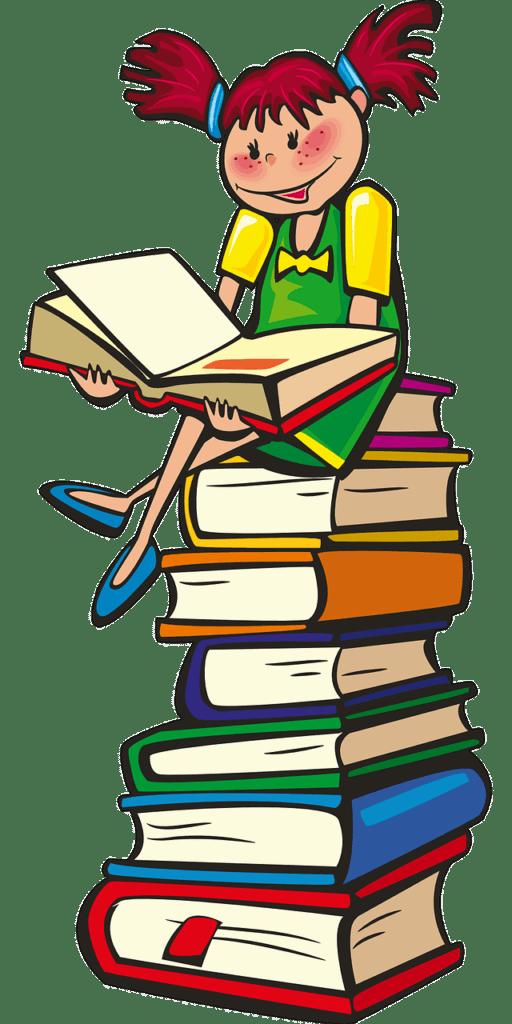תלמידה וספרים