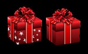 שני מתנות ארוזות