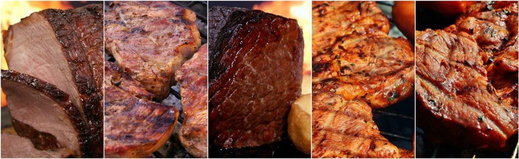 נתחים שונים של בשר